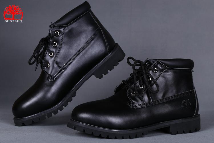 bottines homme cuir noir timberland